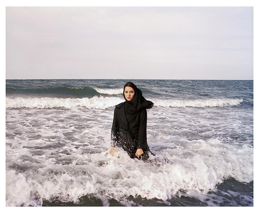 Imaginary CD cover for Sahar. Caspian Sea, Mahmoudabad, Iran, 2011 by Newsha Tavakolian