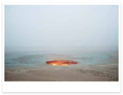 "Magnum Editions Poster: ""The Door to Hell"" Darvaza, Turkmenistan. 2009."