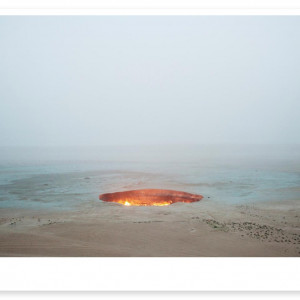 """Magnum Editions Poster: """"The Door to Hell"""" Darvaza, Turkmenistan. 2009."""