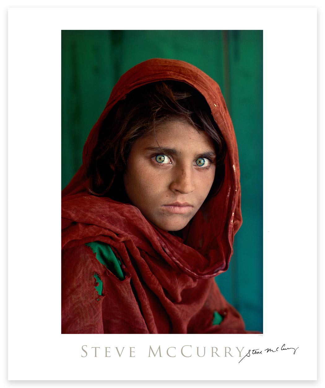 Signed Poster: Afghan Girl by Steve McCurry