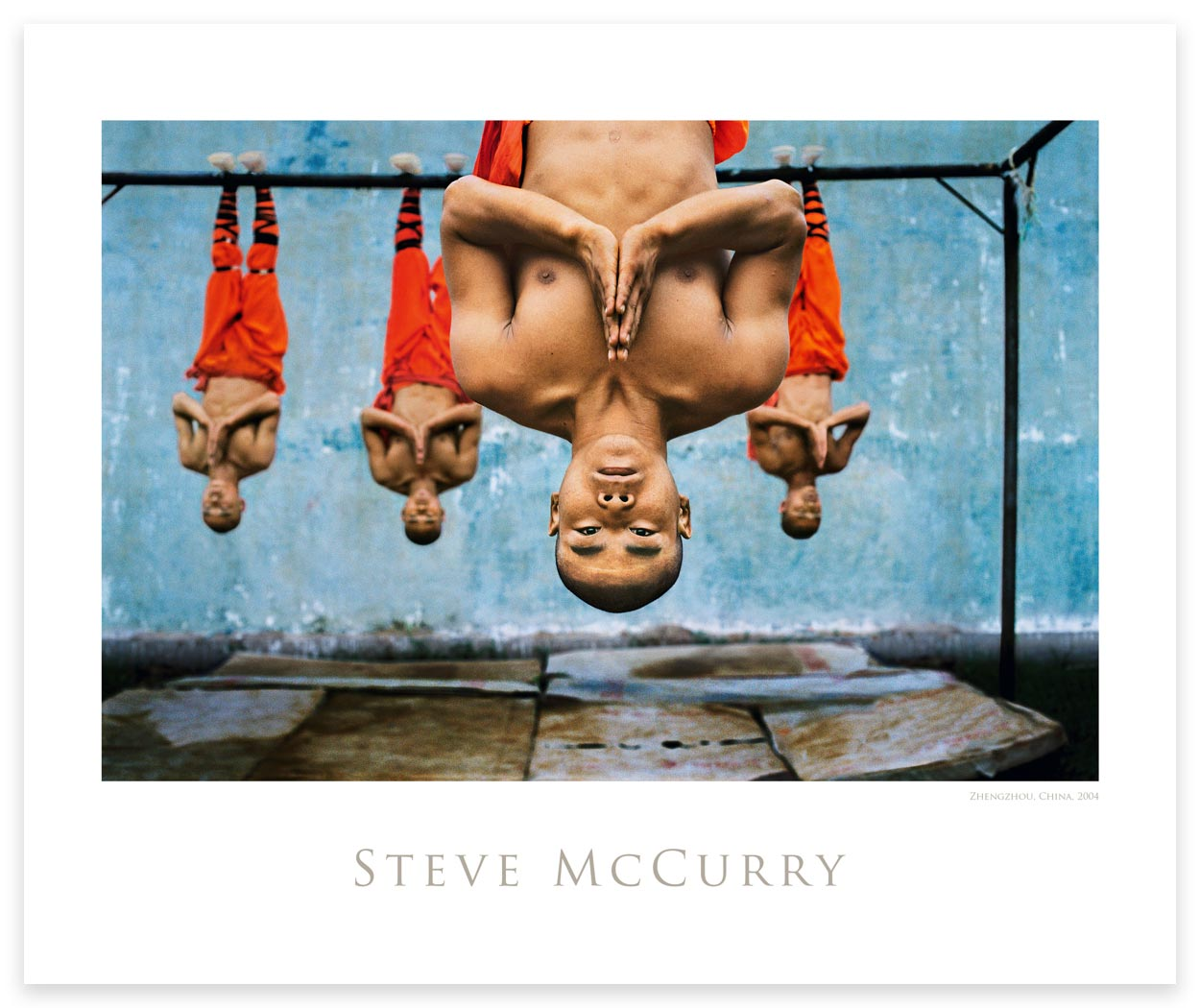 Poster: Shaolin Monks Training by Steve McCurry