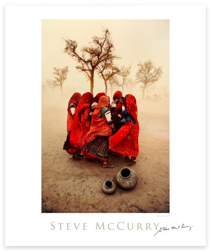 Signed Poster: Dust Storm by Steve McCurry