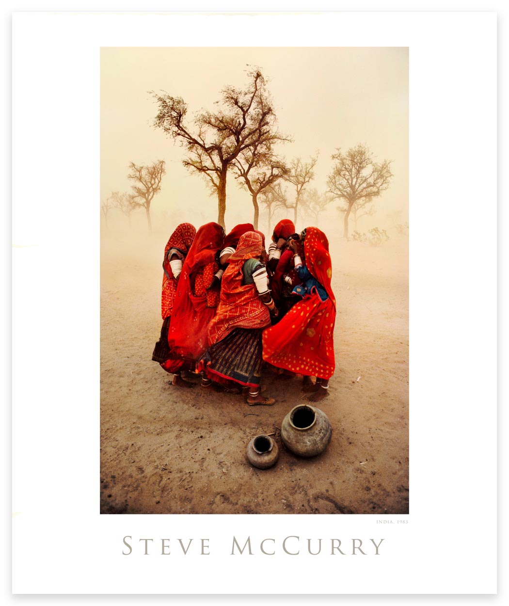 Poster: Dust Storm by Steve McCurry